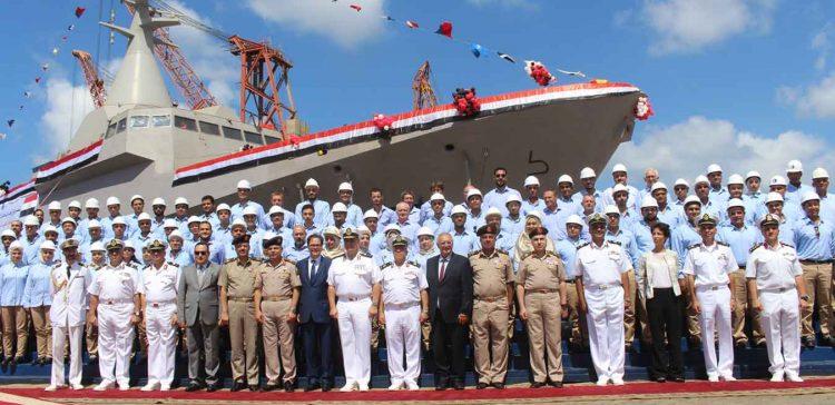 البحرية المصرية تدشن اول فرقاطة محلية الصنع